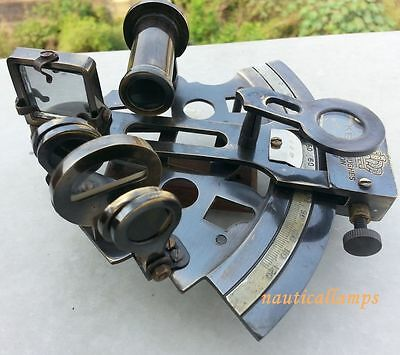 Brass Antique Marine Sextant Astrolabe Solid Maritime Nautical Vintage Gift Dec