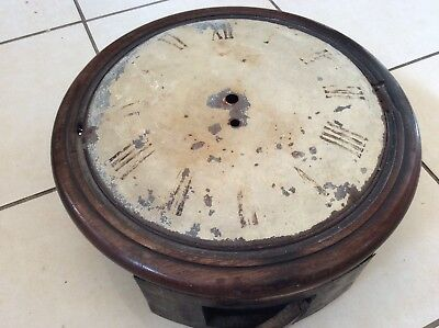 "Fusee Clock Case With Convex Dial For Restoration, 12"" Diameter."