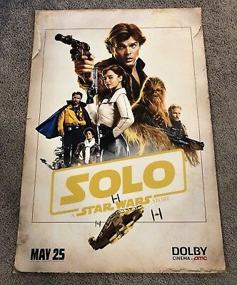 Solo A Star Wars Story Original Dolby 27 X 40 Movie Poster