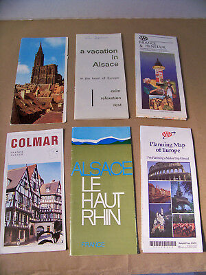 French Vacation in Alsace Travel Brochures and Maps from the 1960's, Haut Rhin.