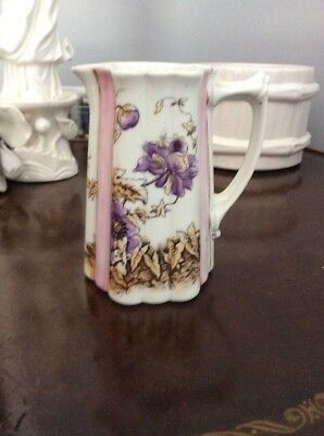 Antique Porcelain Creamer-Hand Painted Unmarked-