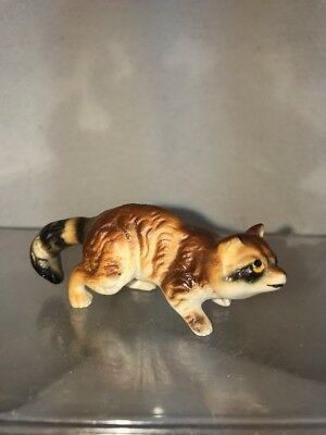 Vtg Bone China Raccoon Country Farm Cabin Decor Miniature Figurine