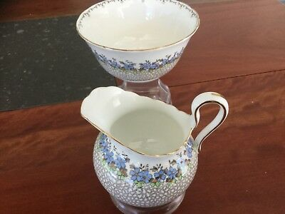 Tuscan Sugar Bowl And Milk Jug  C6184 Bone China England