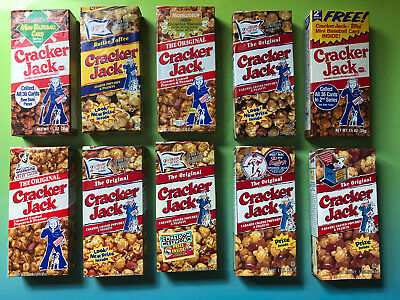 25 Cracker Jack Boxes All Different Still Full with Toy Prizes Inside