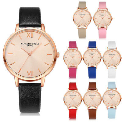 Fashion Men Women Girls Unisex Watches leather Strap Analog Quartz Wrist Watch