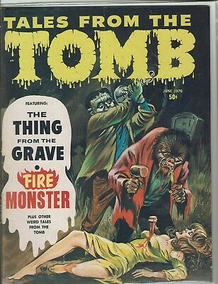 Tales From The Tomb June 1970   Eerie Publications  Vf+ Rare In This Condition