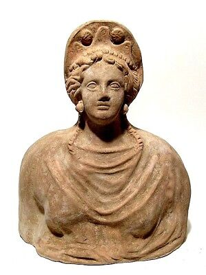 Greek terracotta bust of a woman 3rd - 2nd Century BC
