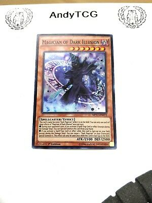 3X Magician Of Dark Illusion - 1St Ed Super Rare Nm Mp17-En072 - Yugioh