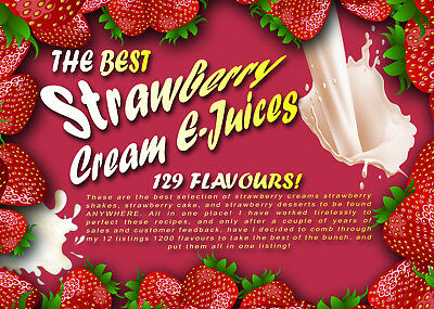 Best Strawberry & Cream Strawberry Dessert E-Juices Of All Time!! 129 Flavours!!