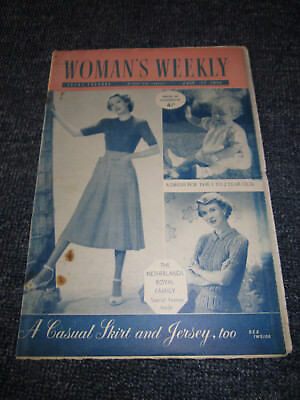 Vintage Woman's Weekly July 22, 1950  Old  *the Netherlands Royal Family Special
