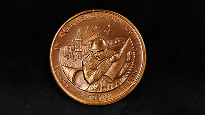 1974 Commemoration of the Trans-Alaskan Pipeline **ART MEDAL** Alaska Mint