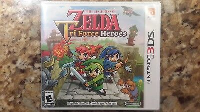 Brand New! The Legend of Zelda: Tri Force Heroes (Nintendo 3DS) Factory Sealed!
