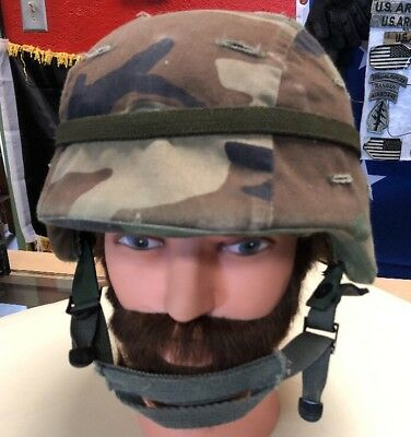 US Military PASGT M-5 Medium made with Kevlar Helmet Complete