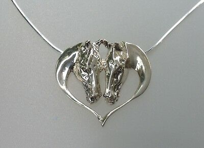 Horses heart Slider Pendant Sterling Silver Zimmer Equestrian Jewelry