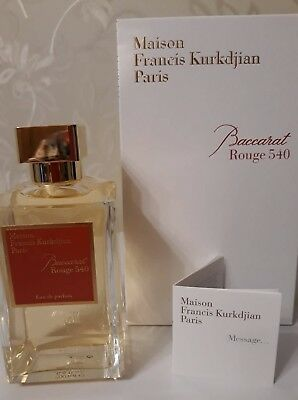 Maison Francis Kurkdjian Baccarat Rouge 540 EDP 10 ml glass spray atomizer