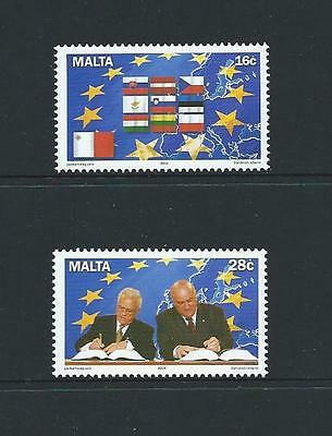 2004 MALTA Admission to E.U. Set MNH (Scott 1160-1161)