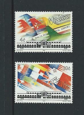 1992 MALTA Malta International Airport Set MNH (Scott 795-796)