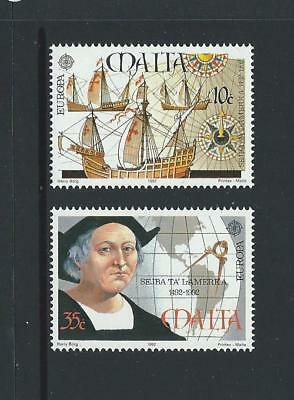 1992 MALTA Europa - Columbus Set MNH (Scott 797-798)