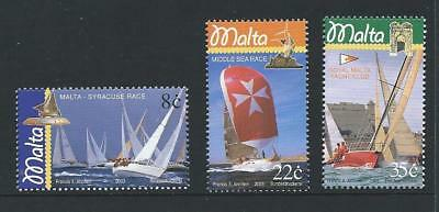 2003 MALTA Sailboats Set MNH (Scott 1136-1138)
