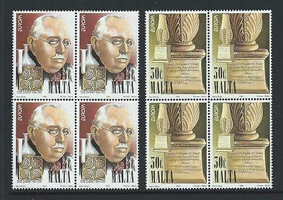 1994 MALTA Europa Set in Blocks of 4 MNH (Scott 829-830)