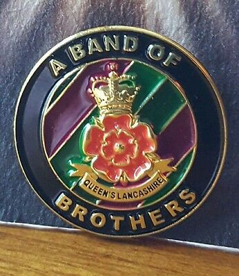 QUEENS LANCASHIRE REGIMENT,  QLR, British Army ... Band of Brothers pin free TRF
