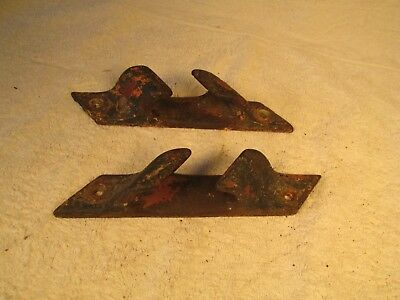 Antique / Vintage Maritime Decor Or Use Pair Of Dock Or Boat Cleats / Chocks