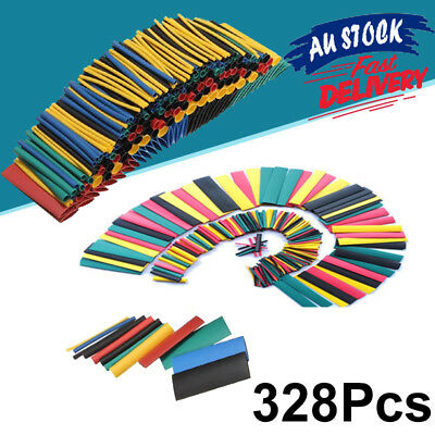 328pcs Assortment Heat Shrink Tube Tubing Sleeve Wrap Wire Electrical Cable Kit