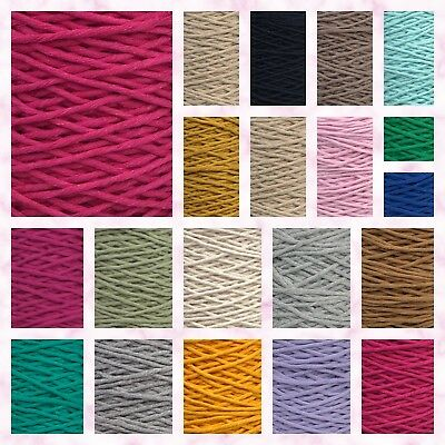 3/4mm SingleTwisted Pipping Cotton Cord  String Rope Craft Sewing Macrame DIY