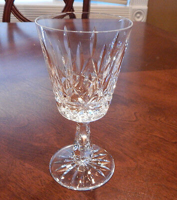 """Waterford Crystal """"rosslare"""" Pattern Water Goblet (S) 6 3/4"""" Tall Excellent"""