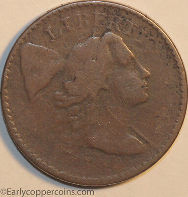 1794 S49 R2 Liberty Cap Large Cent Head of 1794 Raw VG Starts 1c NO RESERVE!