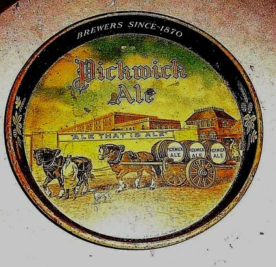"""Vintage Tin Metal Bar  Serving Tray  """" Pick Wick Ale  """"  Brewers Since 1870"""