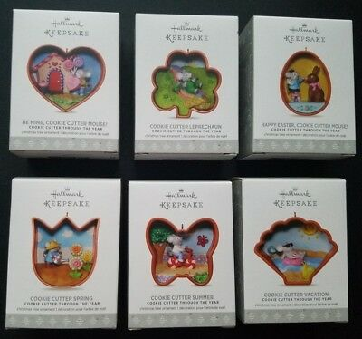 Hallmark Keepsake Ornaments 2017 Cookie Cutter Throughout The Year - Lot of 6