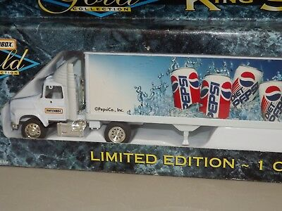 1996 Matchbox Gold Pepsi King Size Rig Die Cast Metal 1:64 Scale NRFB