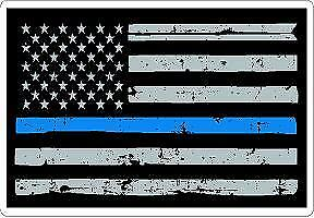 Thin Blue Line Daughter Reflective or Matte Decal or Magnet Sheriff Police LEO