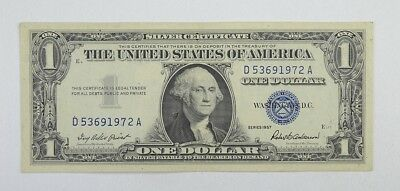 Crisp 1957 $1.00 Silver Certificate United States Dollar Currency Note *834