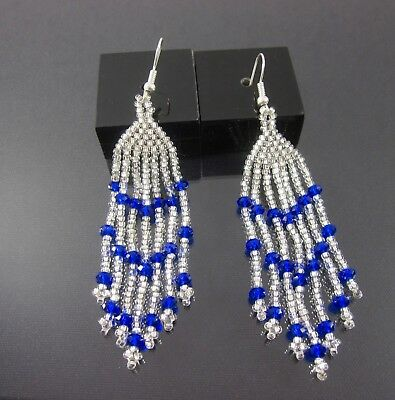 22d593251887ce HUICHOL MEXICAN EARRINGS Handmade Beaded Art Bohemian Ethnic Jewelry ...
