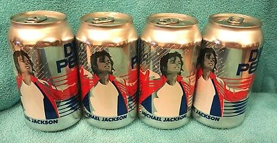 4 Diet Pepsi Cans Michael Jackson Cans 2018. Lot of 4 cans