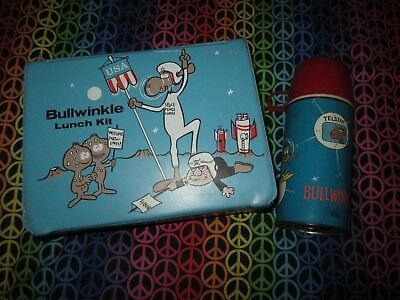 1963 Rocky & Bullwinkle Vinyl Lunchbox & Thermos