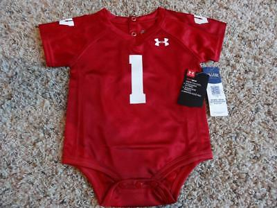 finest selection e9b0e 8813e NEW INFANT WISCONSIN BADGERS UNDER ARMOUR FOOTBALL JERSEY ...