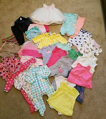 Lot of Baby Girl 6 months Clothes Lot Adorable Spring/Summer 36 pcs #21