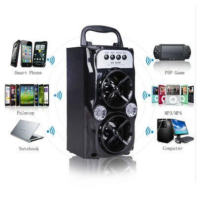 Double Speaker Super Bass Stereo Party Wireless Bluetooth USB/TF/AUX/FM Radio