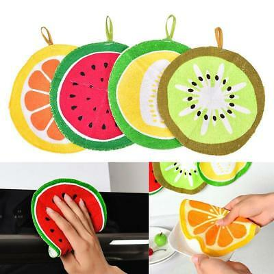 Fruit Print Kitchen Hand Towel Microfiber Towels Cleaning Rag Dish Cloth Gifts