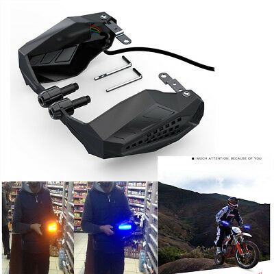 2PCS  Waterproof Windproof Motocross Grip Protection Windshield Hood LED light