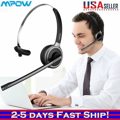 MPOW For Truck Driver Noise Cancelling Wireless Headphones Mic Bluetooth Headset