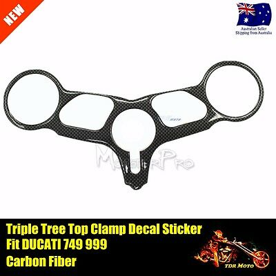 Ducati 749 999 Triple Tree Front End Upper Top Clamp Decal Protector Sticker