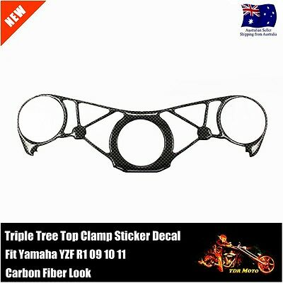 Decal Pad Triple Tree Top Clamp Upper Front End For Yamaha YZF R1 09-11