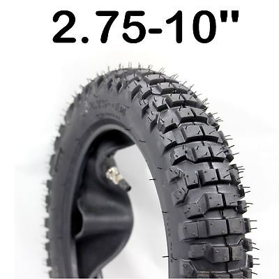 "2.75-10 10 "" knobby Tyre +Tube Motocross MX Dirt bike Pit bike CRF 50 70 90 110"