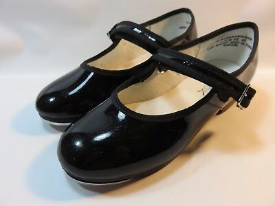 CAPEZIO TeleTone Tap Shoes Girl's Size 1-1/2 WIDE Excellent Used Condition