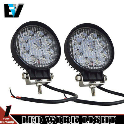 Pair 4inch CREE LED Work Light Bar Flood Beam Off Road 4WD Driving Lamps