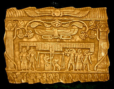 Ancient Egyptian Anubis Judgement Day Wall Plaque